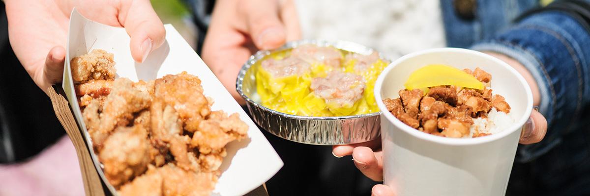 天金廟會台灣美食