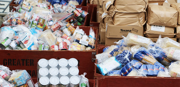 Food donations to the Vancouver Food Bank